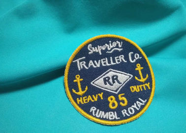 Customized Silk / Nonwoven Embroidered Uniform Patches Military Hat Patches