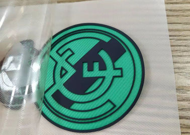 Custom Screen Printing Embossed Football Club Logo TPU Patches Badges for Sportswear